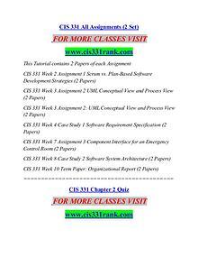 CIS 331 RANK Great Stories/cis331rank.com