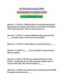 CIS 336 STUDY Great Stories/cis336study.com