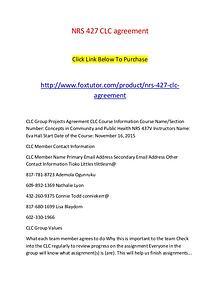 NRS 427 CLC agreement