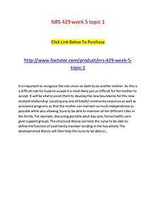 NRS 429 week 5 topic 1