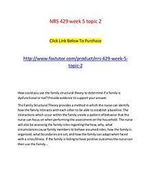 NRS 429 week 5 topic 2
