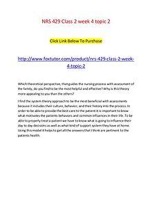 NRS 429 Class 2 week 4 topic 2