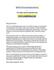 BUSN 278 help Making Decisions/uophelp.com