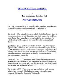 BUSN 380 help Making Decisions/uophelp.com