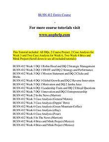 BUSN 412 help Making Decisions/uophelp.com