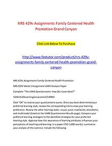 NRS 429v All Assignments