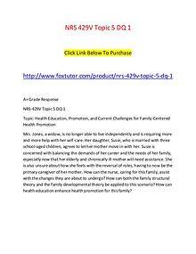NRS 429V Topic 5 DQ 1