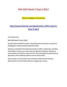 NRS 429V Week 5 Topic 5 DQ 2