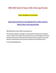 NRS 430V Week 4 Topic 4 DQ 1 Nursing Practice