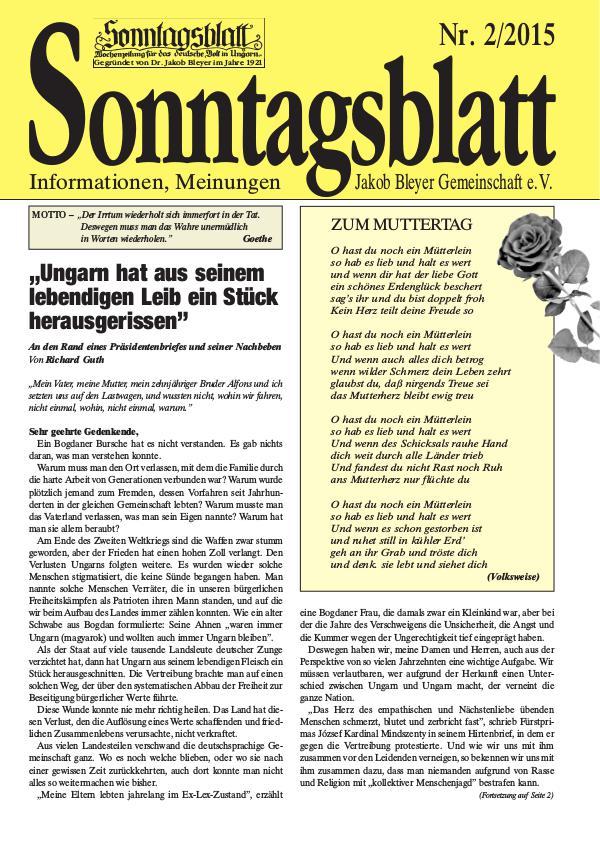 Sonntagsblatt 2/2015