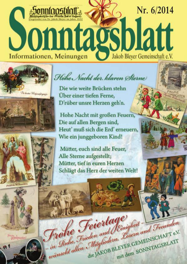 Sonntagsblatt 6/2014