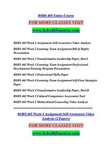 BSHS 465 MENTOR Keep Learning /bshs465mentor.com