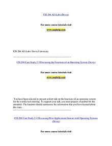 CIS 206 (Devry) help Making Decisions/uophelp.com