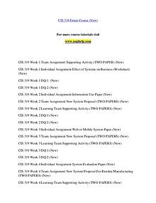 CIS 319 (New) help Making Decisions/uophelp.com