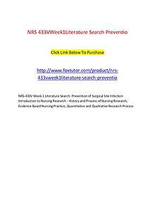 NRS 433V Week1Literature Search Preventio