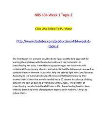 NRS 434 Week 1 Topic 2