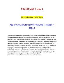 NRS 434 week 3 topic 1