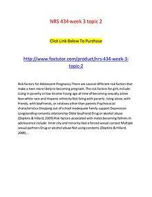 NRS 434 week 3 topic 2