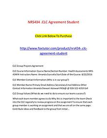 NRS434.CLC Agreement Student