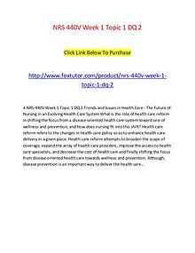 NRS 440V Week 1 Topic 1 DQ 2
