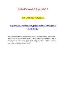 NRS 440V Week 3 Topic 3 DQ 2