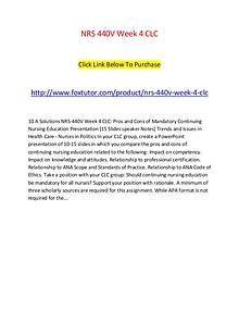 NRS 440V Week 4 CLC