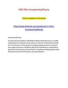 NRS 441v IncorporatingTheory