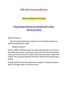 NRS 441v LiteratureReview