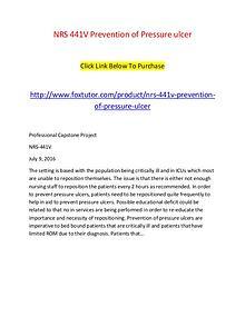 NRS 441V Prevention of Pressure ulcer