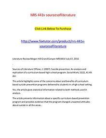 NRS 441v sourcesofliterature