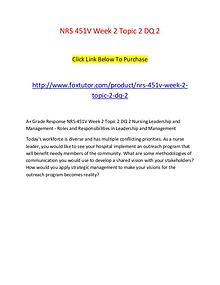 NRS 451V Week 2 Topic 2 DQ 2