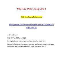 NRS 451V Week 5 Topic 5 DQ 3