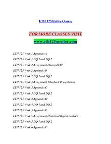 ETH 125 MENTOR Imagine Your Future /eth125mentor.com