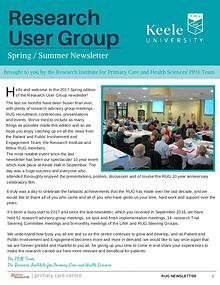 Research User Group Newsletter