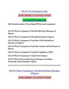 CIS 517 RANK  Great Stories/cis517rank.com