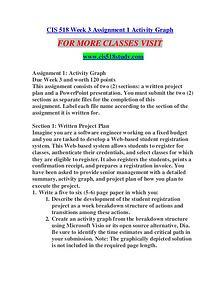 CIS 518 STUDY Great Stories/cis518study.com