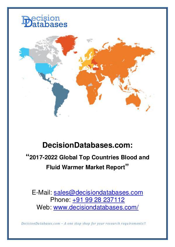 Market Report Global Blood and Fluid Warmer Market Report 2017