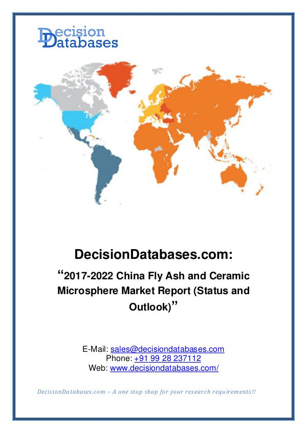 Market Report China Fly Ash and Ceramic Microsphere Market