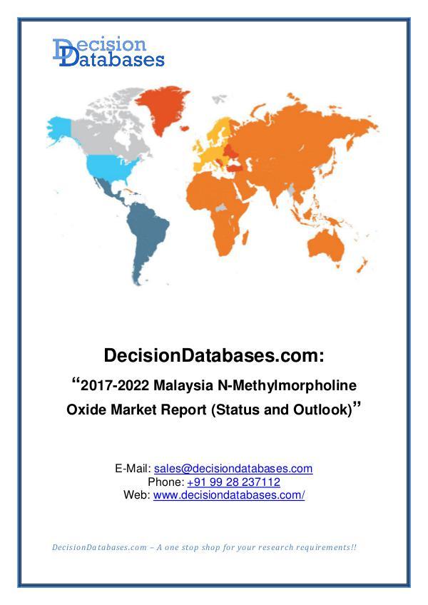 Market Report Malaysia N-Methylmorpholine Oxide Market Report