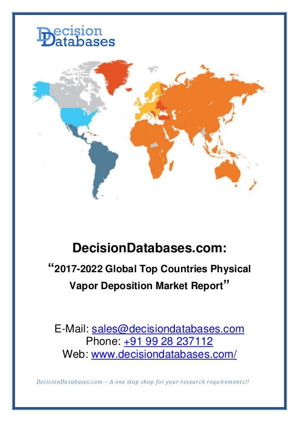 Market Report Global Physical Vapor Deposition Market Report