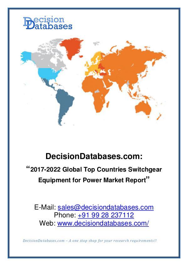 Market Report Global Switchgear Equipment for Power Market