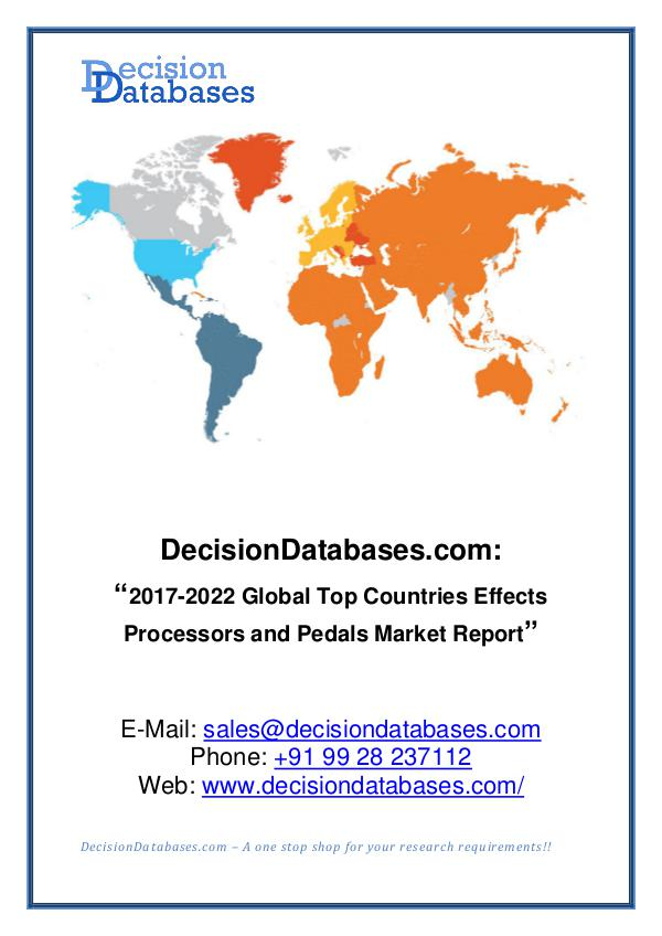 Market Report Effects Processors and Pedals Market Report 2017