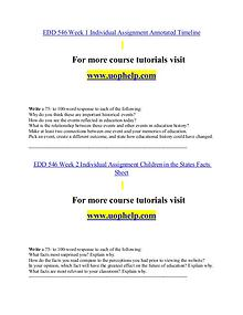 EDD 546 help A Clearer path to student success/uophelp.com