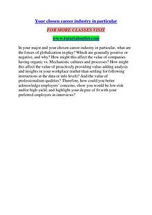 YOUR CHOSEN CAREER INDUSTRY IN PARTICULAR / TUTORIALOUTLET DOT COM
