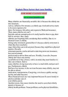 EXPLAIN THREE FACTORS THAT CAUSE FAMILIES / TUTORIALOUTLET DOT COM
