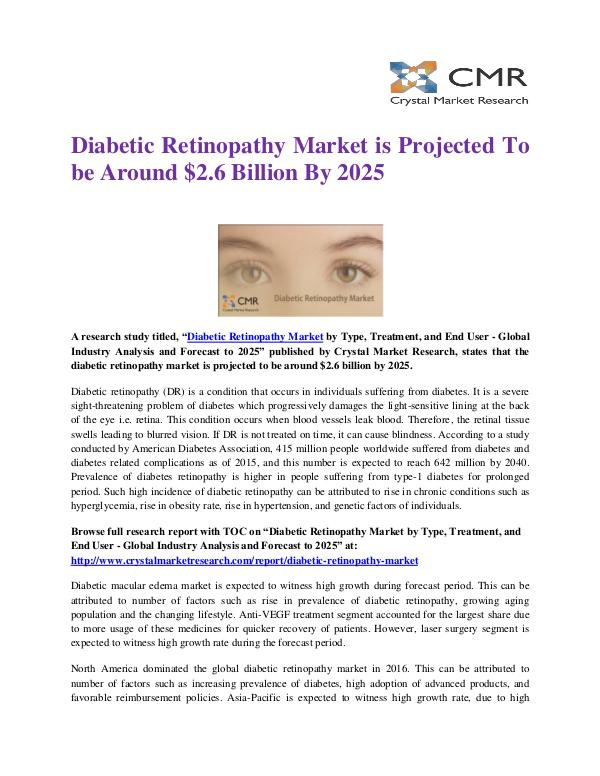 Market Research Reports- Consulting Analysis Crystal Market Research Diabetic Retinopathy Market by Type and Management