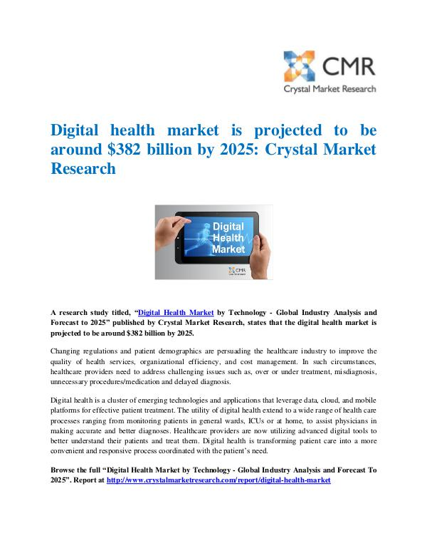Digital Health Market Press Release