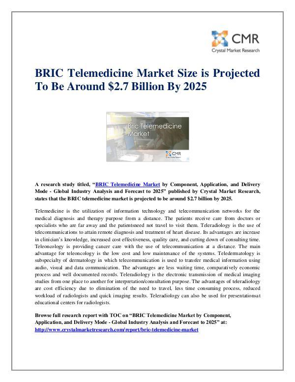 BRIC Telemedicine Market