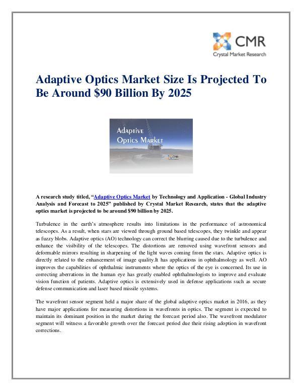 Adaptive Optics Market