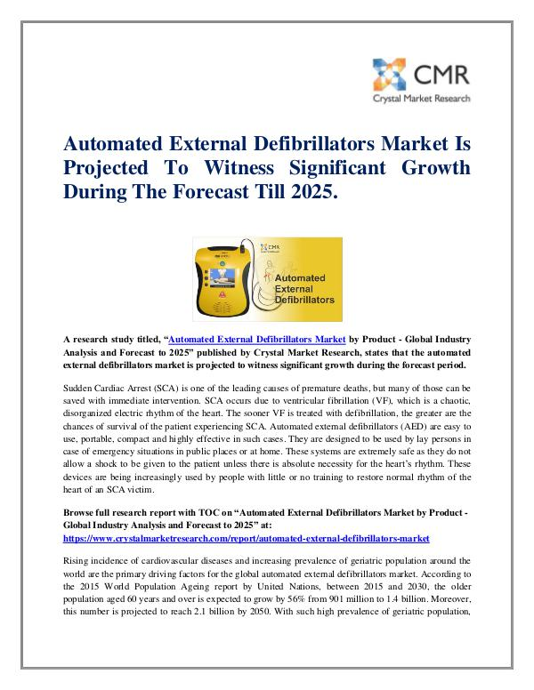 Automated External Defibrillators Market by Produc